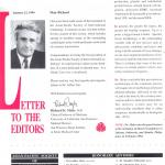 Letter to the Editors, 1994
